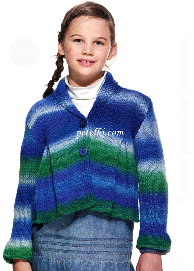 Описание: вязание спицами свитер для девочек 10.