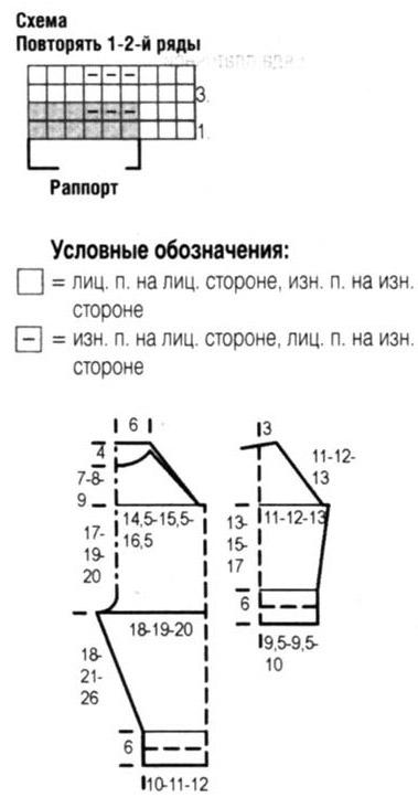 Детский комбинезон спицами схема и описание реглан сверху