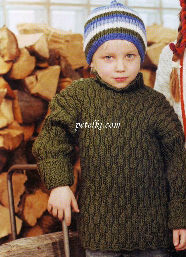 Детский свитер с объемным