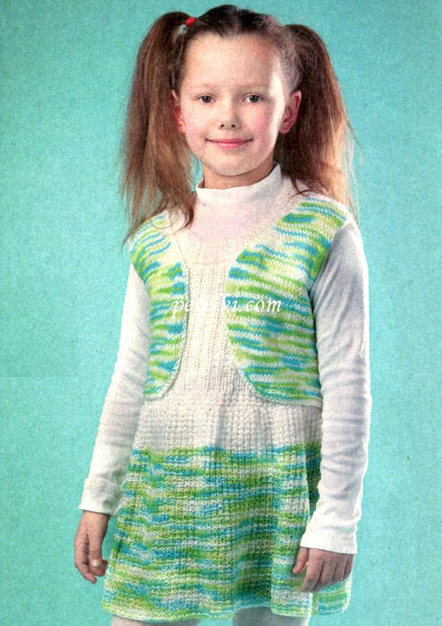 Вязание для детей. Туника для девочки
