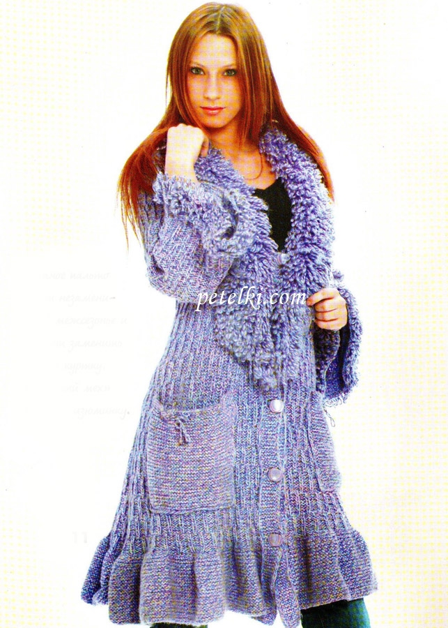 Вязание - Пальто с отделкой