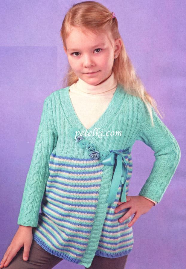 Джемпер для девочки 8 лет вязать спицами