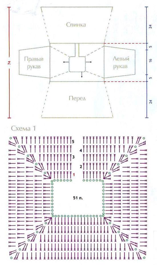 Схема кокетки крючком крестильное платье схема6