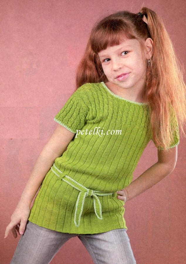 Вязаная туника для девочки