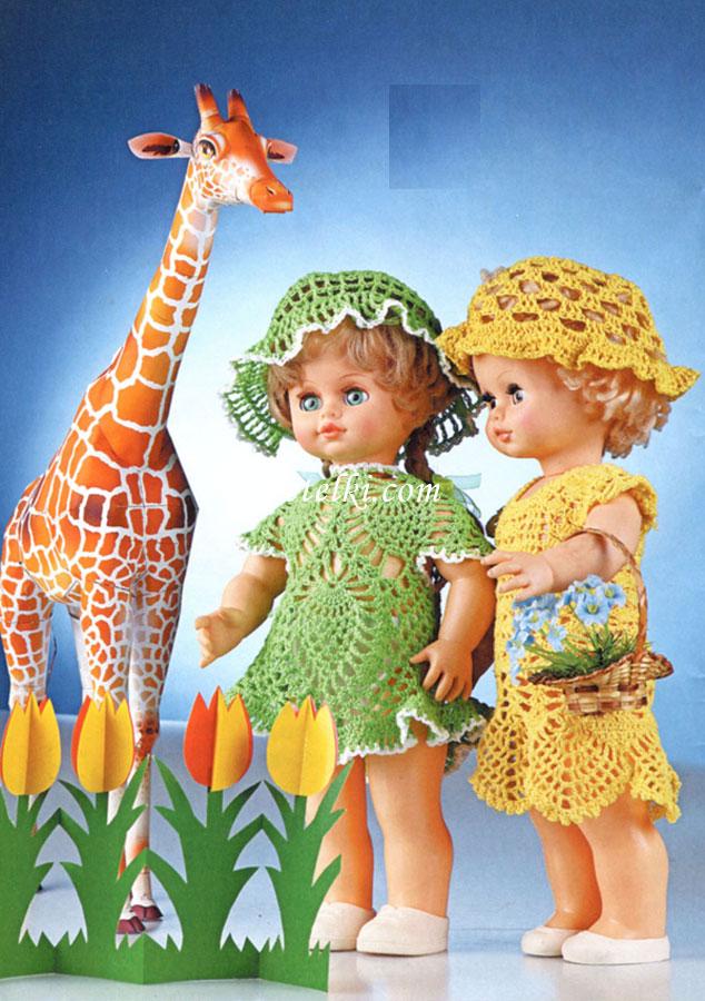 для куклы · Вязаная одежда
