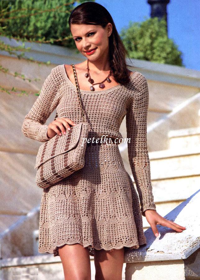 Платье короткое расклешенное с поясом