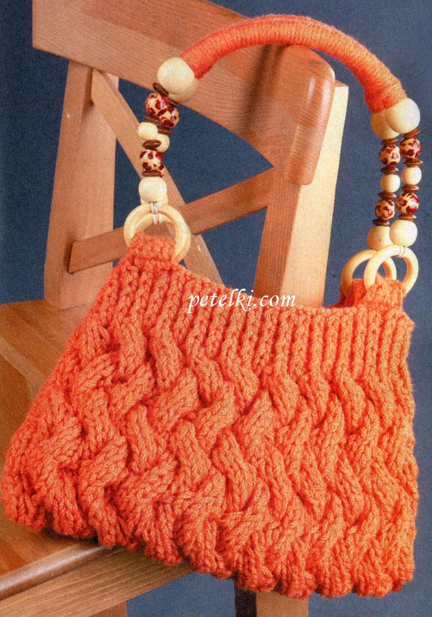 Эту картинку ты можешь найти в галерее Сумка связанная крючком ананасами , Схема вязания крючком японского коврика.