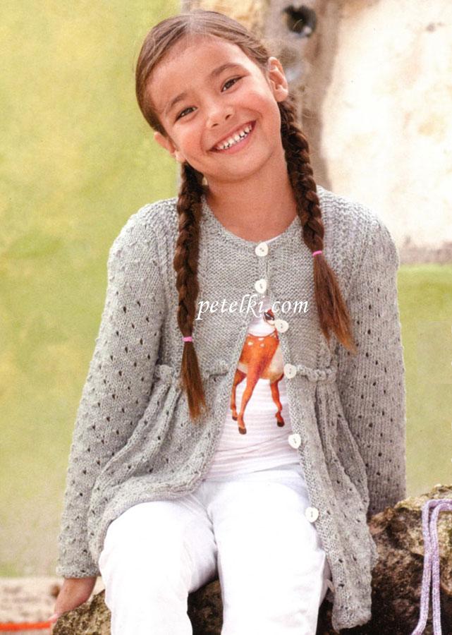 вязание спицами для девочек от 3лет.жилетки.  Автор:Admin.