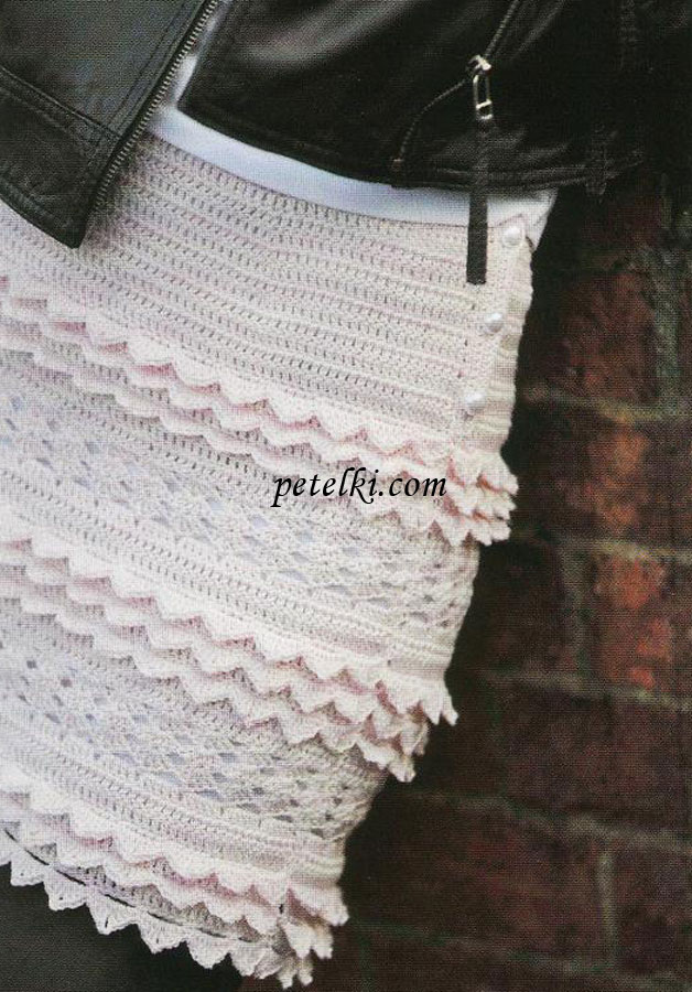 Мини-юбка с ажурным узором