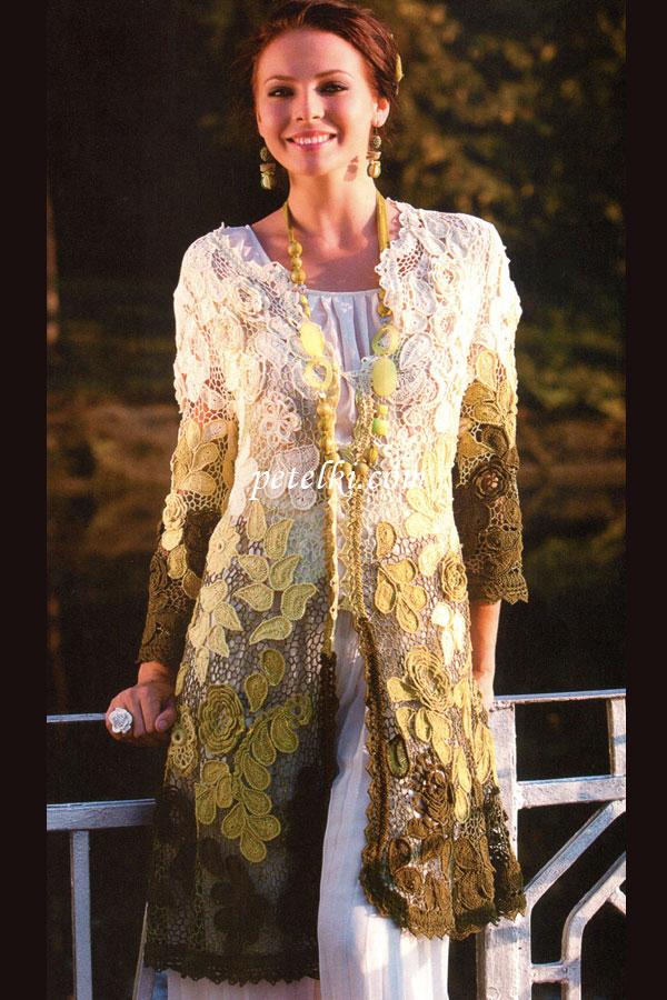 Вязаное пальто для девочки - вязание