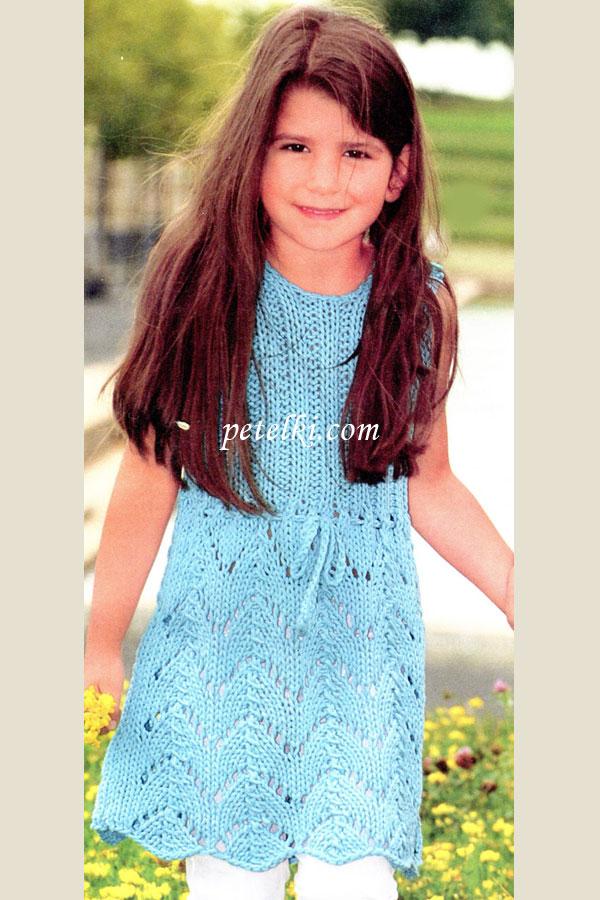 Платья сарафаны вязаный сарафан для девочки ярко розовый сарафан можно носить и как сарафан и как тунику в любом