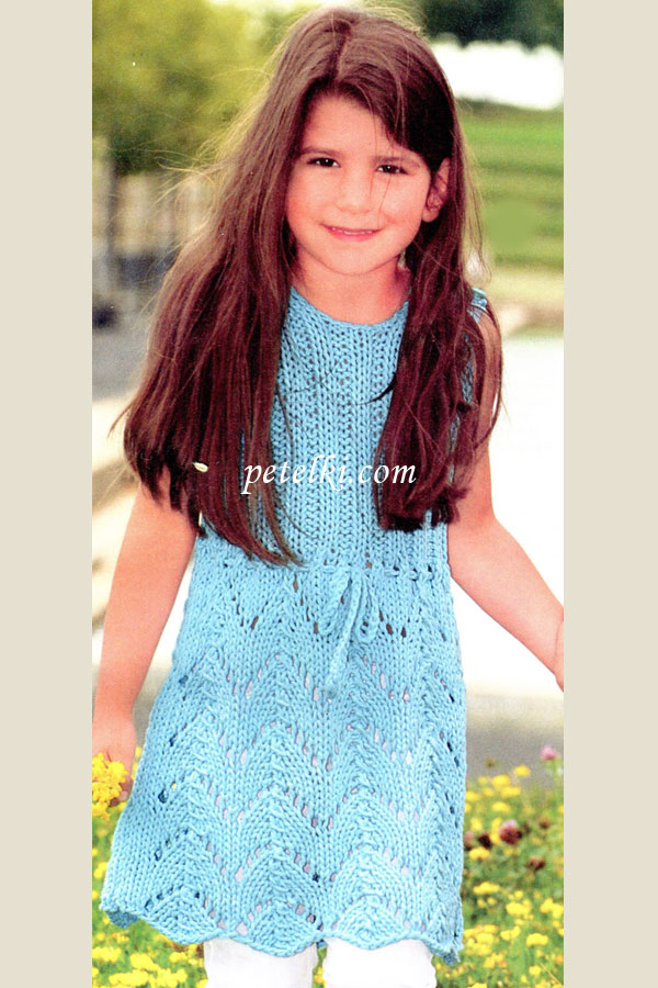 Платье сарафан крючком - для девочки 1-4 лет. sarafan-kruchkom-. сарафан для девочки крючком sarafan-kruchkom-10