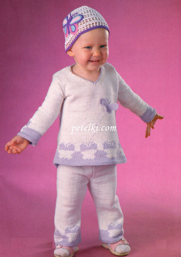 костюм для девочки туника и брюки