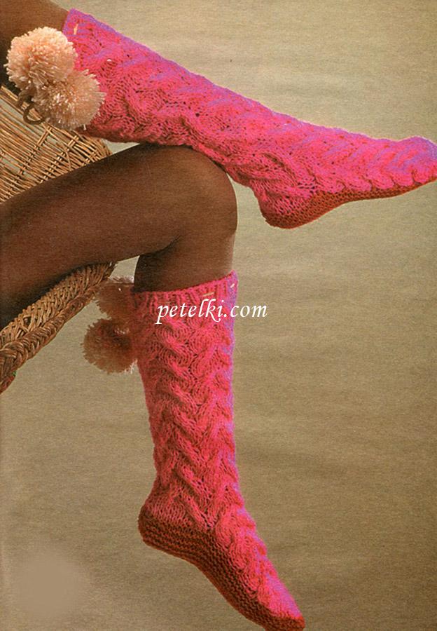 Носки, гетры, тапочки вязаные спицами