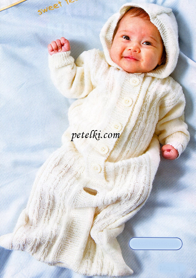 Конверт с капюшоном для малыша