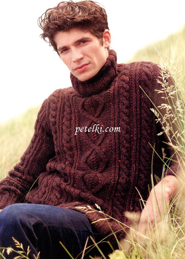 Мужской свитер с ирландским