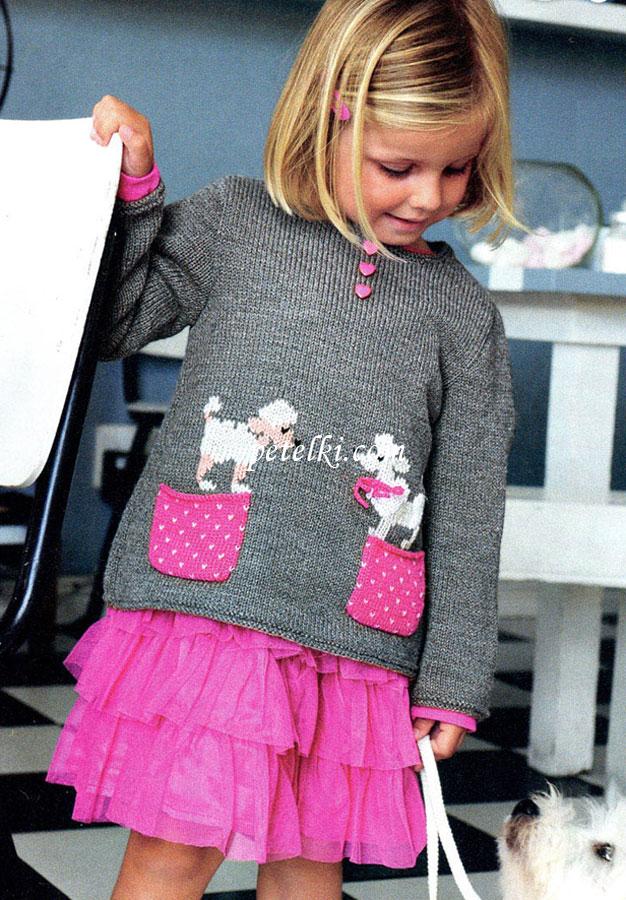 Вязание в для девочек спицами фото