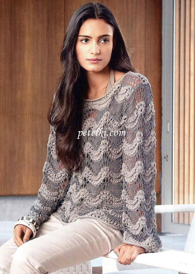Вязание спицами кофты свитера схема фото 648