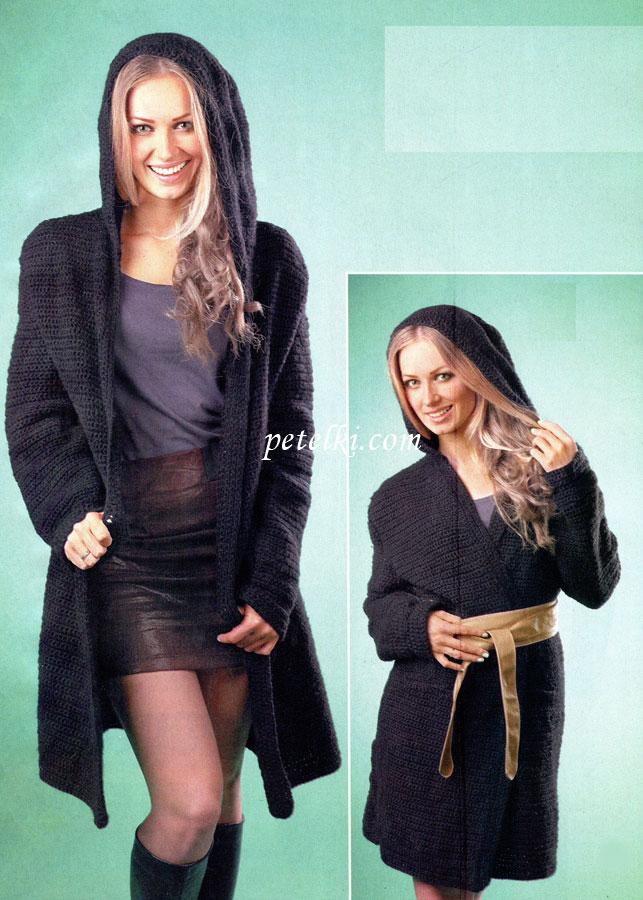 Вязание пальто с фото
