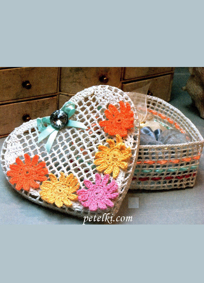 шкатулка (вязание крючком)