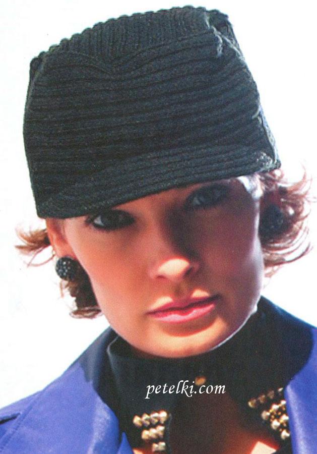 кепка каскет вязание спицами