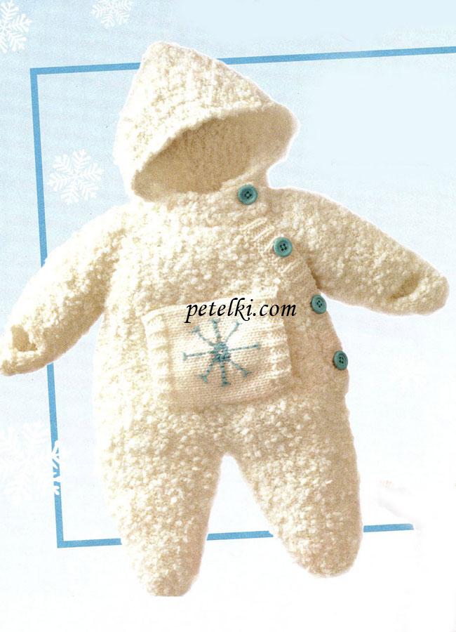 Комбинезон для новорождённого вязаный крючком фото