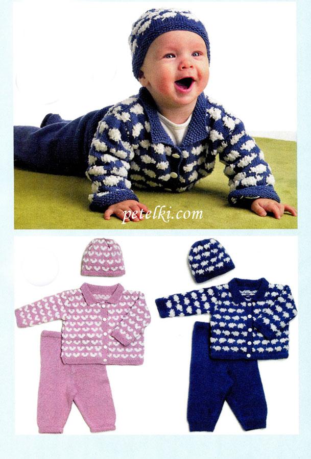 Схема вязания штанишек для новорожденного