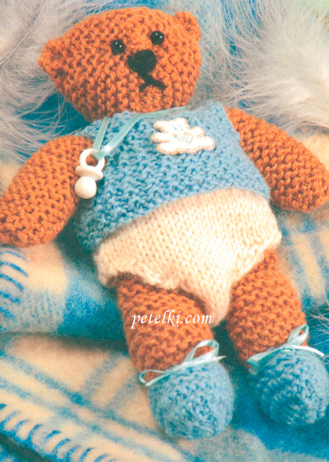 Вязаный медвежонок - малыш