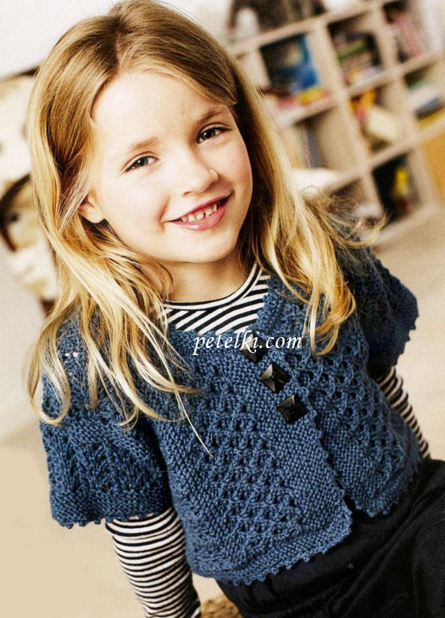 Болеро для девочки вязаное