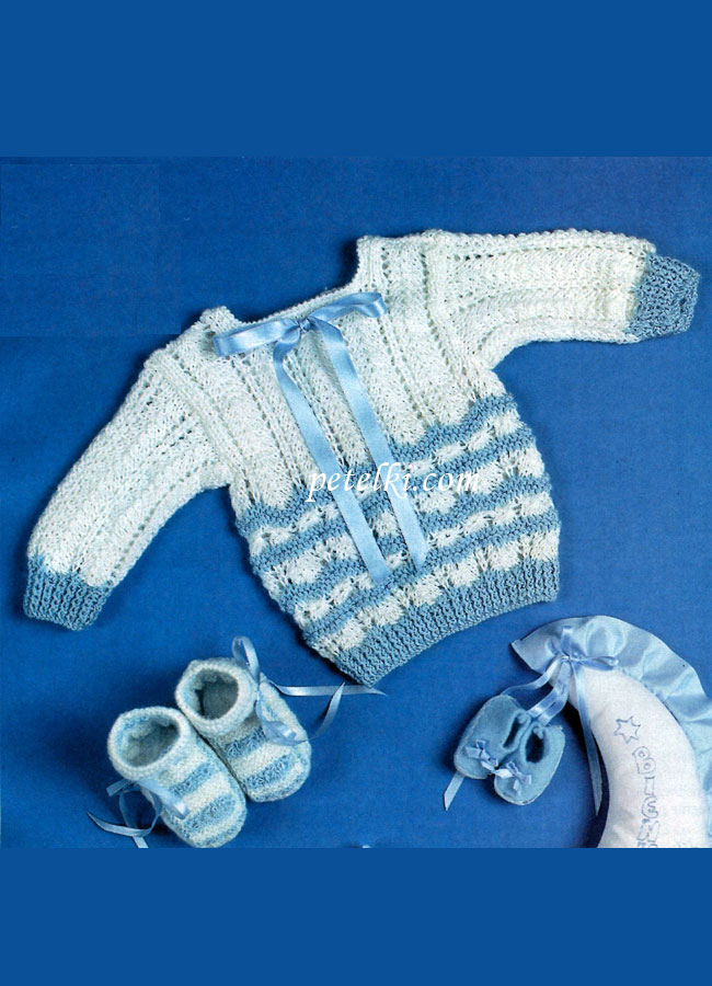 Для новорожденных связаны спицами