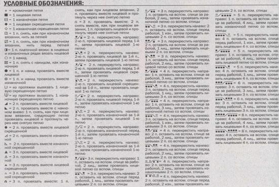 Японские схемы по вязанию перевод 642