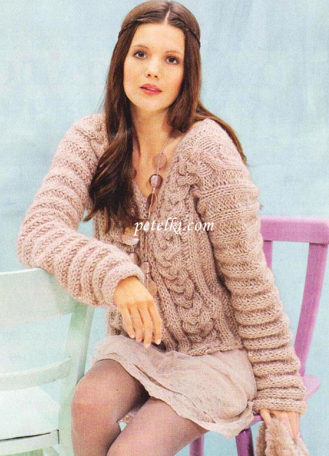 пуловер из велюровой пряжи