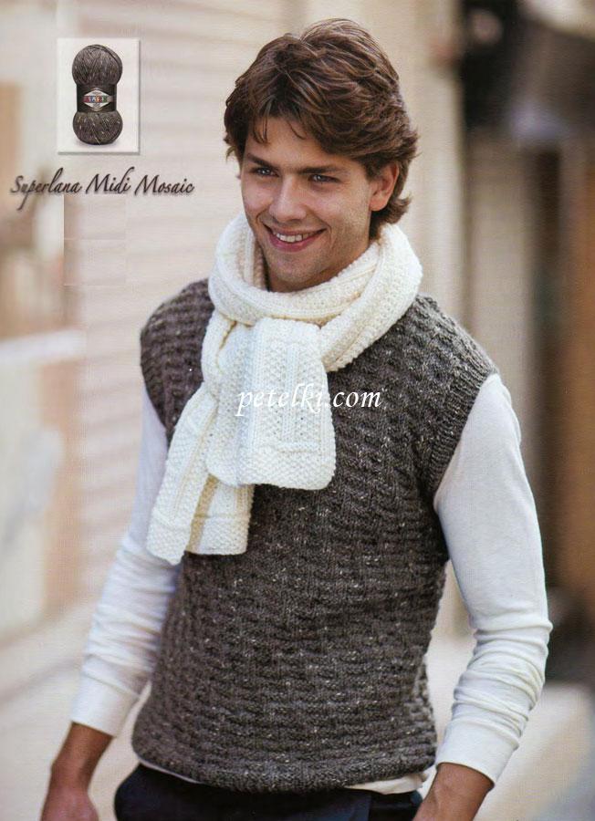 Вязание для мужчин. Безрукавка