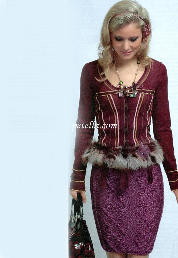 Вязани юбка