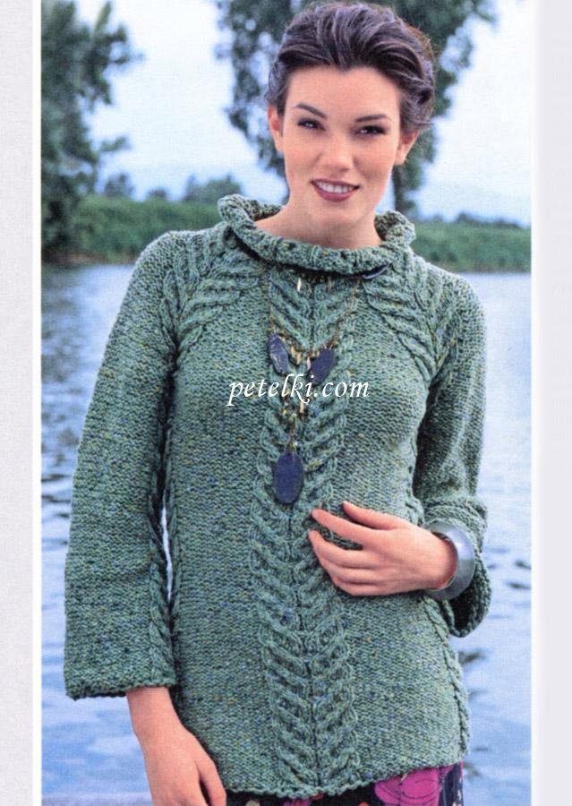 Женский пуловер-реглан с
