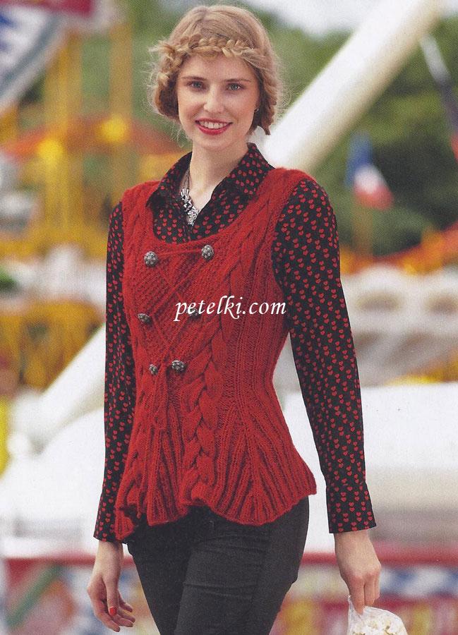 Серый Узорчатый Пуловер