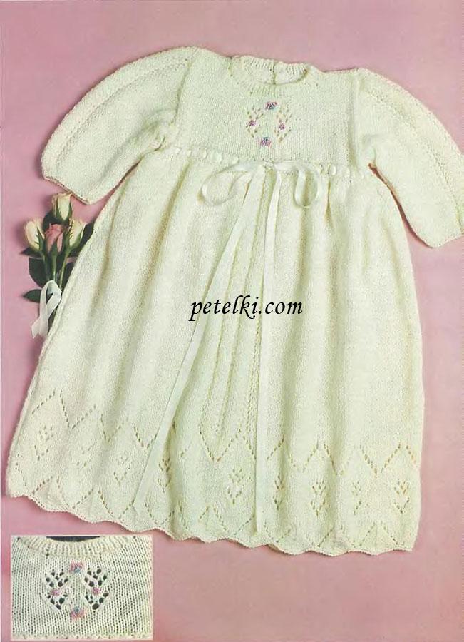 Вязаные платья на 1 годик спицами