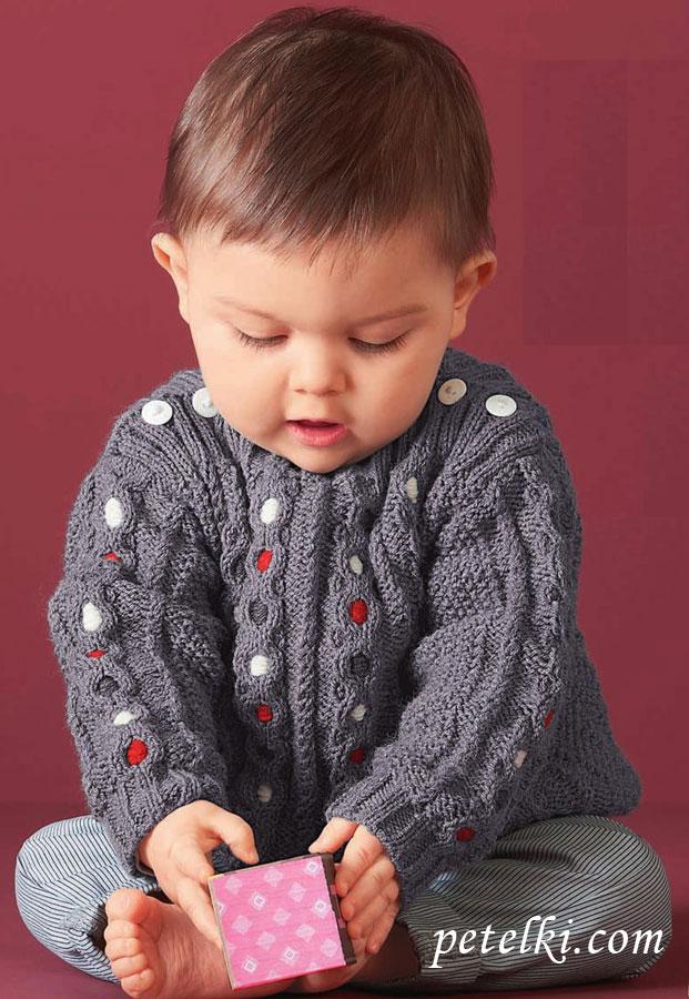 детский пуловер с застежкой на плече обсуждение на Liveinternet