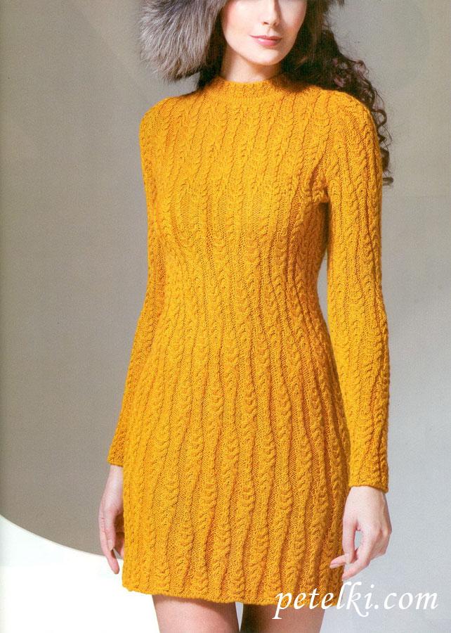 Платье связать женское спицами