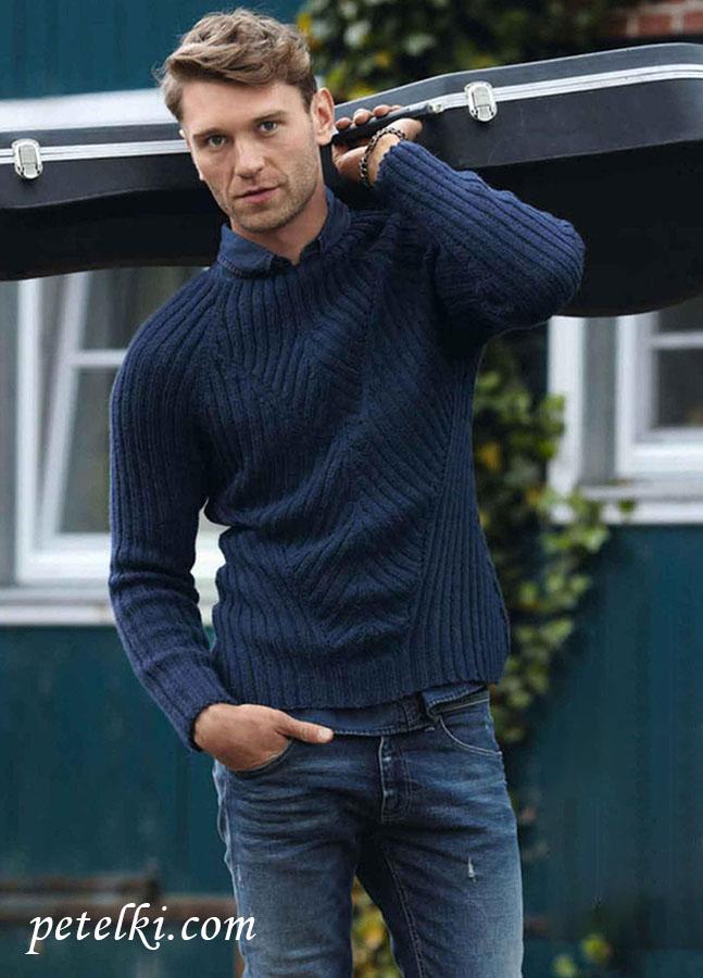 Пуловер мужской реглан