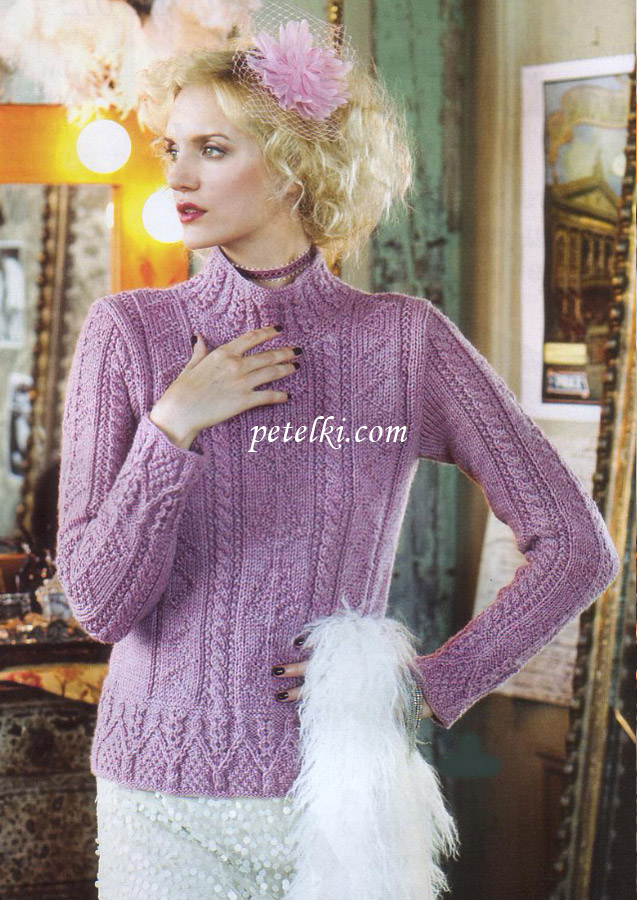 Облегающий свитер с аранским