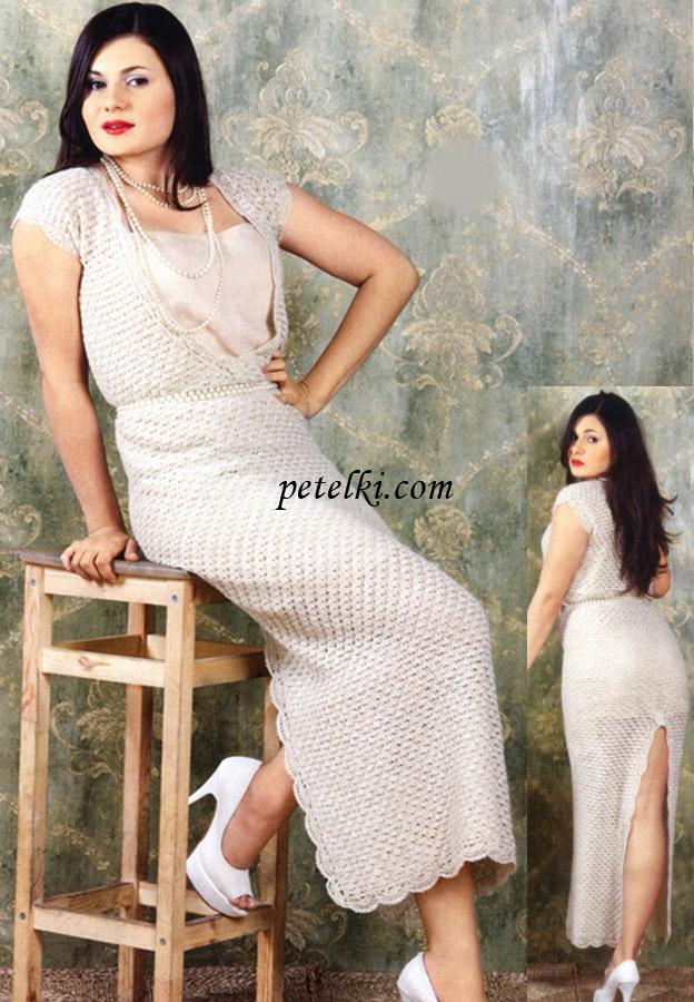 Вечернее длинное платье со
