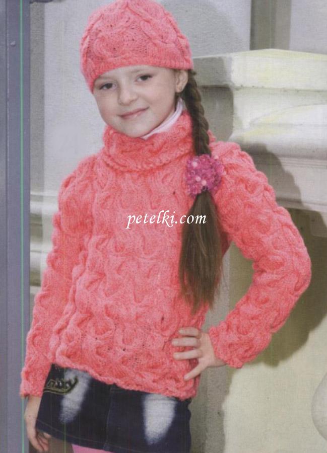 Вязаный джемпер для девочки подростка с доставкой