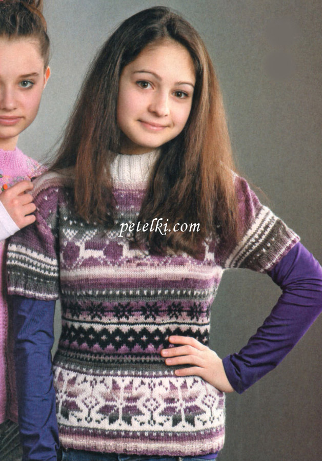 Вязание для девочки-подростка спицами 151