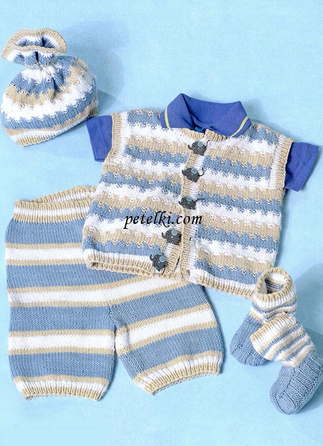 Штанишки для новорожденных спицами