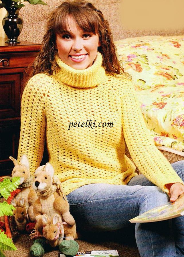 свитер с рукавами реглан