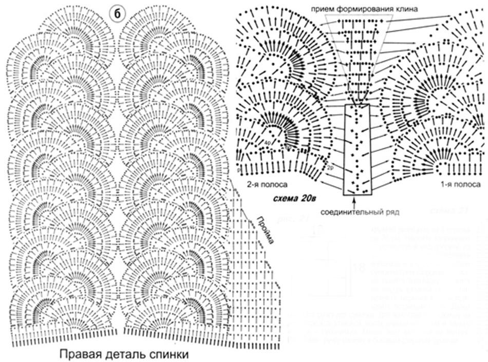 Мотивы ленточного кружева крючком схемы