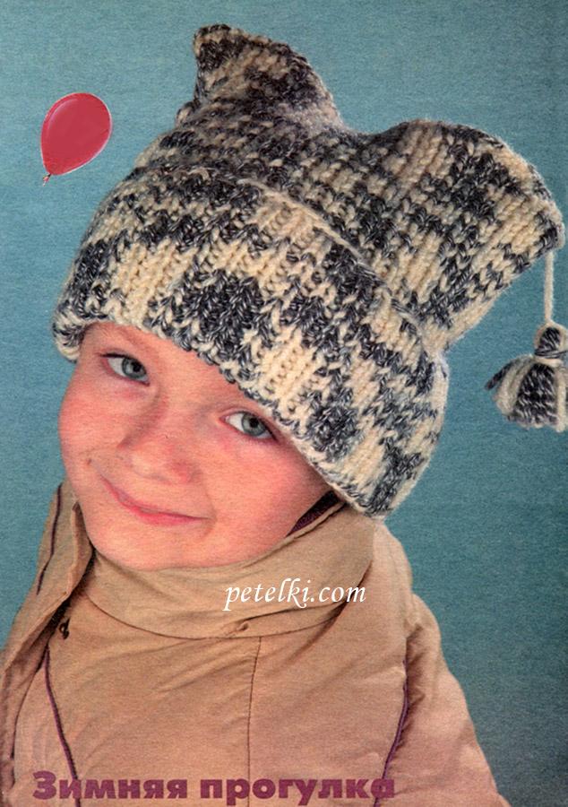 Детская шапочка с кисточками