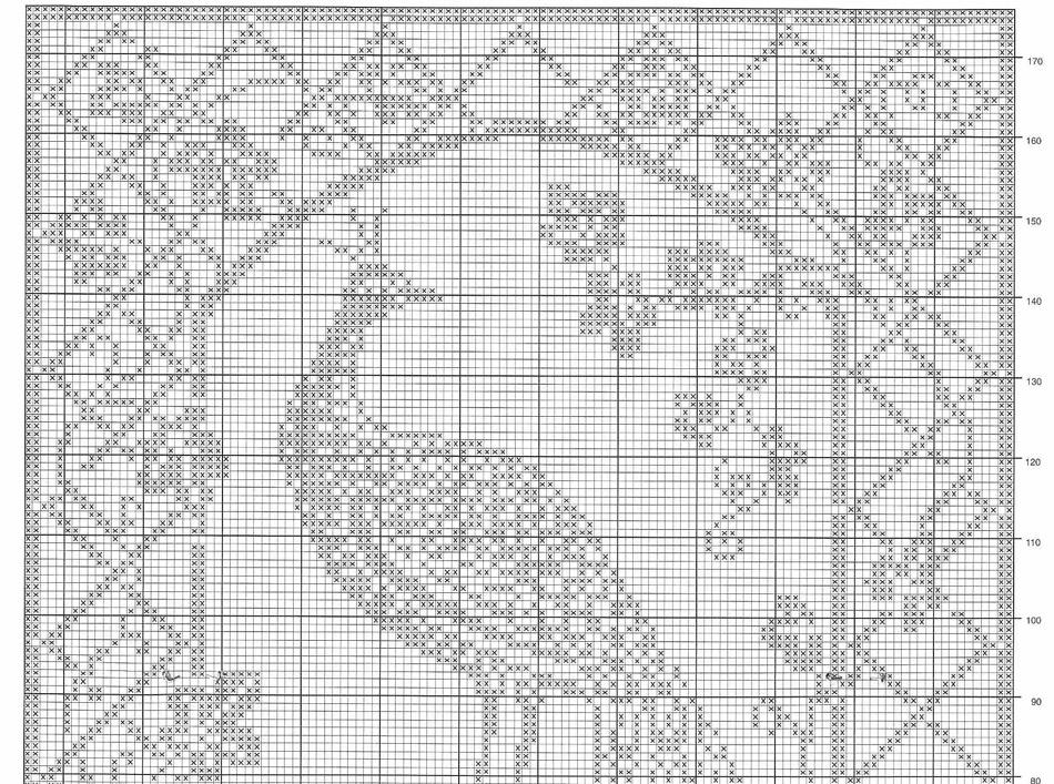 Схемы филейного вязания павлина
