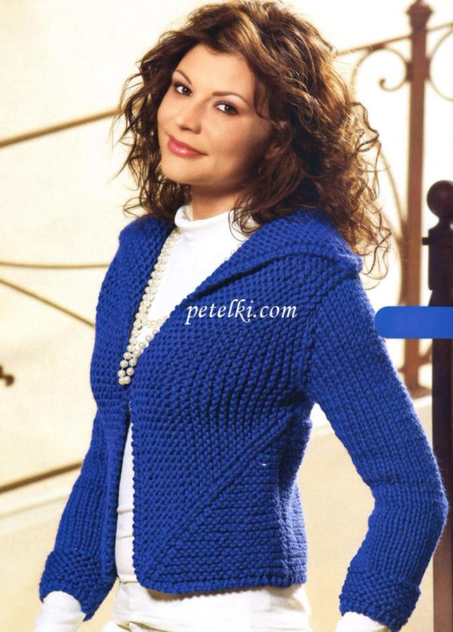 Двухцветный пуловер